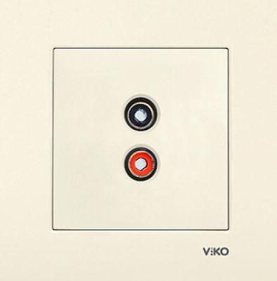 Viko Karre Krem Müzik Yayın Prizi Mekanizma (Çerçeve Hariç)