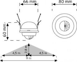 Nade - Nade 10365 360° Spot Tipi Hareket Sensörü-Sıva Altı (1)