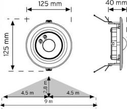 Nade - Nade 10362 360° Tavan Tipi Hareket Sensörü-Sıva Altı (1)