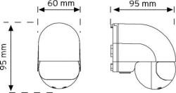 Nade - Nade 10180 180° Duvar Tipi Hareket Sensörü (1)