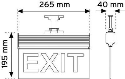 Nade 17120 265mm-N3 Ledli Acil Yönlendirme-Montaj