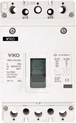 Viko Kompakt Şalter Sabit 25ka 3x100a Sn2