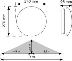 Nade - Nade 10952 Hf Sensörlü Ledli Tavan Armatürü 6500k (1)
