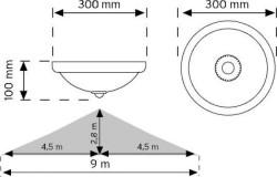 Nade - Nade 360° Hareket Sensörlü Acil Aydınlatmalı Led'li Tavan Armatürü (1)
