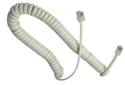 İthal Hcc Spiral Kablo 4p4c Krem