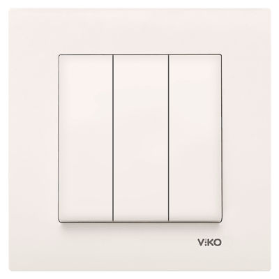 Viko Karre/Meridian Krem Üçlü Anahtar Mekanizma ( Çerçeve Hariç )