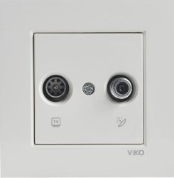 Viko Karre/Meridian Krem Tv-Sat Sonlu Mek+D/K (Çerçeve Hariç) - Thumbnail