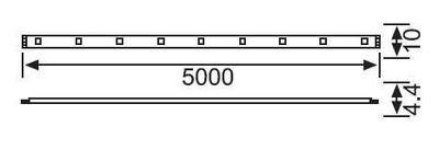 LE208 S Üç Çipli Iç Mekan Serit LED (10 METRE) 12W/M 3000K-GÜNIŞIĞI