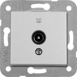 Viko Artline - Artline Novella/Trenda Metalik Beyaz Tv Priz Kapak (Mekanizma Hariç) (1)