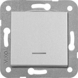Artline Novella/Trenda Metalik Beyaz Işık Anahtar Düğme (Mekanizma Hariç)