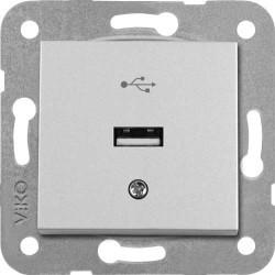 Viko Artline - Artline Novella/Trenda Metalik Beyaz Usb Konnektör Kapak (Mekanizma Hariç) (1)