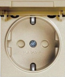 Artline Novella/Trenda Bronz Kapaklı Topraklı Priz Ç.K. Kapak (Mekanizma Hariç) - Thumbnail