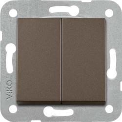Viko Artline - Artline Novella/Trenda Antrasit Komütatör Düğme (Mekanizma Hariç) (1)