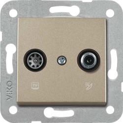 Viko Artline - Artline Novella/Trenda Bronz Tv-Sat Kapak (Mekanizma Hariç) (1)
