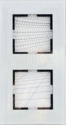 Artline Novella Cam Düz Beyaz İkili Çerçeve