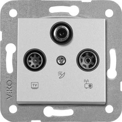 Novella/Trenda Metalik Beyaz Uydu Sat Kapak (Mekanizma Hariç) - Thumbnail