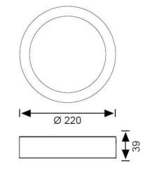 JUPİTER - JUPİTER LC453 B LED YUVARLAK TAVAN ARMATÜRÜ 18W 1100LM 225mm Ç (1)