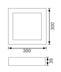 JUPİTER - JUPİTER LC456 S LED KARE TAVAN ARMATÜRÜ 24W 1440LM 300mm ÇAP (1)
