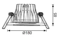 "JUPİTER - JUPİTER LD416 B 6"" LED DOWNLIGHT 22W (6500K) (BEYAZ) (1)"