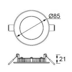 JUPİTER - JUPİTER LD470 B YUVARLAK PANEL LED 3W 110LM 85mm ÇAP (BEYAZ) (1)