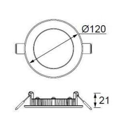 JUPİTER - LD471 B YUVARLAK PANEL LED 6W 280LM 120mm ÇAP (BEYAZ) (1)