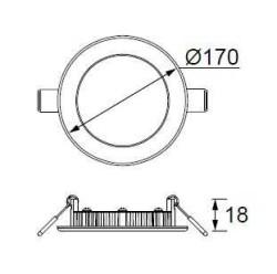 JUPİTER - JUPİTER LD472 B YUVARLAK PANEL LED 12W 720LM 170mm ÇAP (BEYAZ) (1)