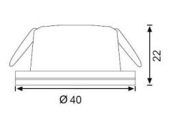 JUPİTER - JUPİTER LS968 B LED SPOT TRAFOLU 3W (6500K) (BEYAZ) (1)