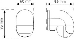 NADE - Nade Nade 10180 180° Duvar Tipi Hareket Sensörü (1)