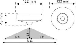 NADE - Nade Nade 10464 360° Tavan Tipi Hareket Sensörü-Sıva Üstü (1)